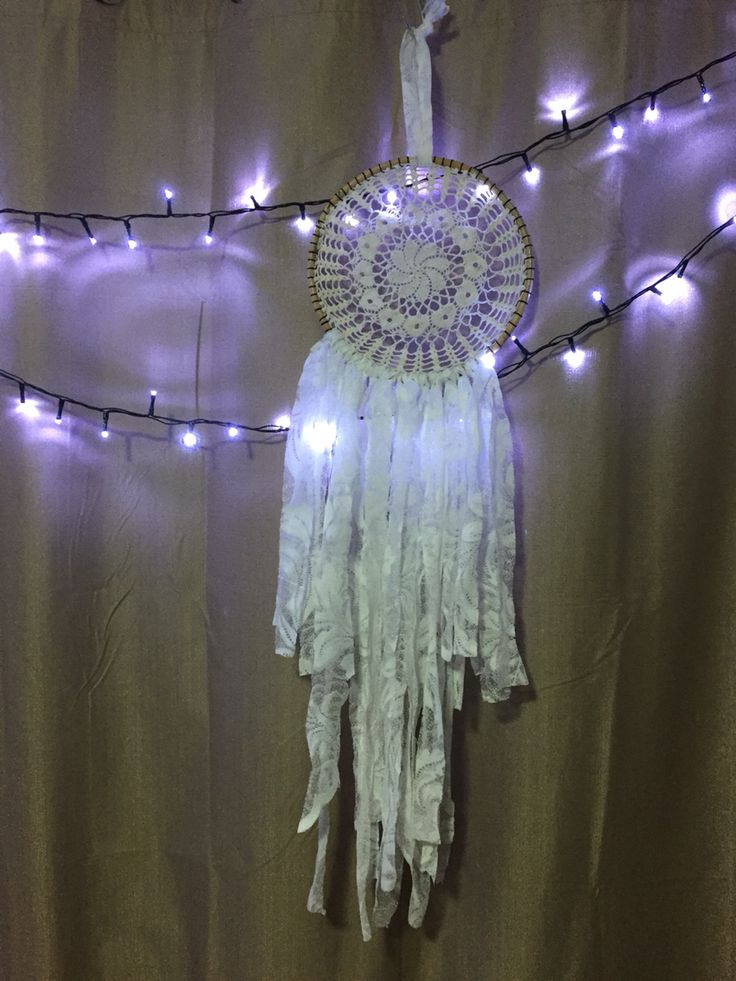 White lace boho dreamcatcher