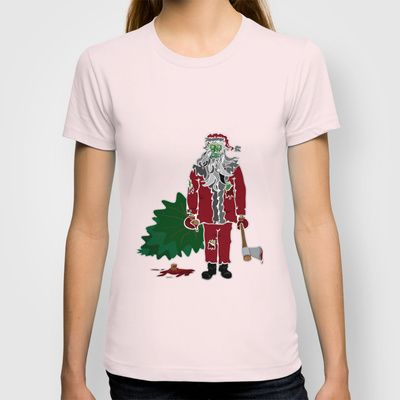 Zombie Claus T-shirt by misfitpsycles - $18.00