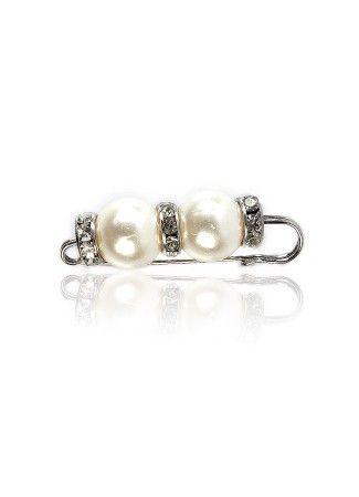Pearl & Crystal Pin Broach for Less Price at Thia.in