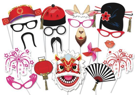 Here is the ultimate collection of Chinese New Year party photo booth props! Tons of Fun!! Great for a table centrepiece or Photo booth!