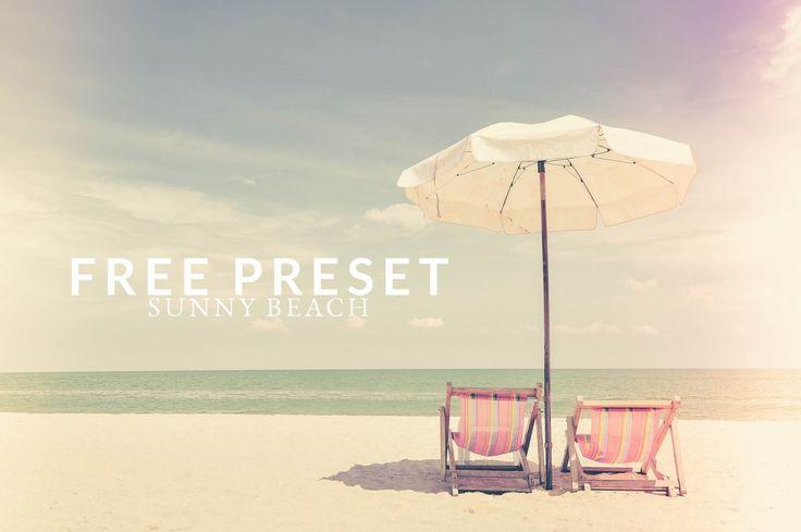 Free Lightroom Preset Sunny Beach  - Chic Lightroom Presets & Brushes