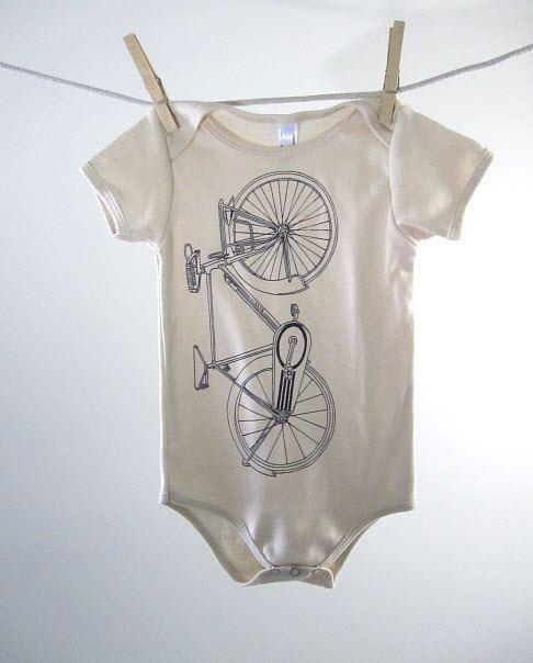 Organic Bicycle Onesie $14: Babies, Organic Cotton, Swaddle Blankets, Bike Onesie, Cotton Bike, Organizations Cotton, Natural Baby, Bicycles Onesie, Baby Onesie