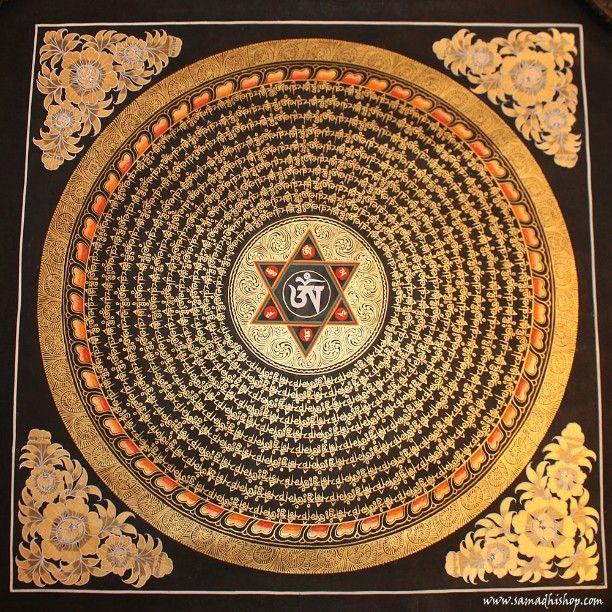 #mantra #mandala #OM #AUM #ommanipadmehum #Buddhist #Buddhism #thangka #painting #handmade #Tibet #Nepal @samadhishopcom