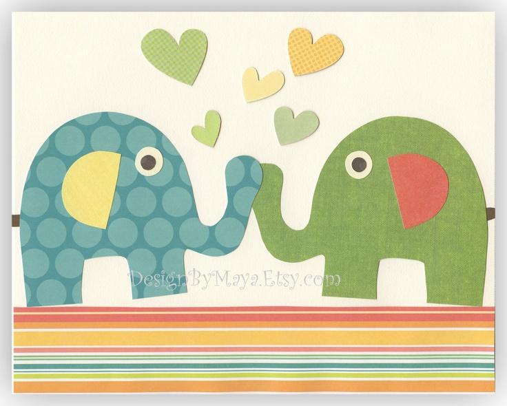 Baby room art nursery art decor kids print baby for Rainbow themed baby nursery