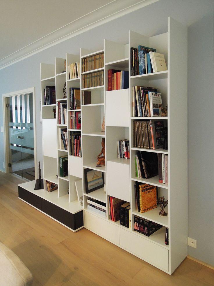 les 25 meilleures id es de la cat gorie biblioth que blanc laqu sur pinterest meuble tv blanc. Black Bedroom Furniture Sets. Home Design Ideas