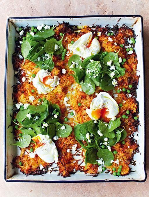 La+cucina+tradotta+di+Jamie:+Rosti+croccante+con+uova+e+pisellini+dolci