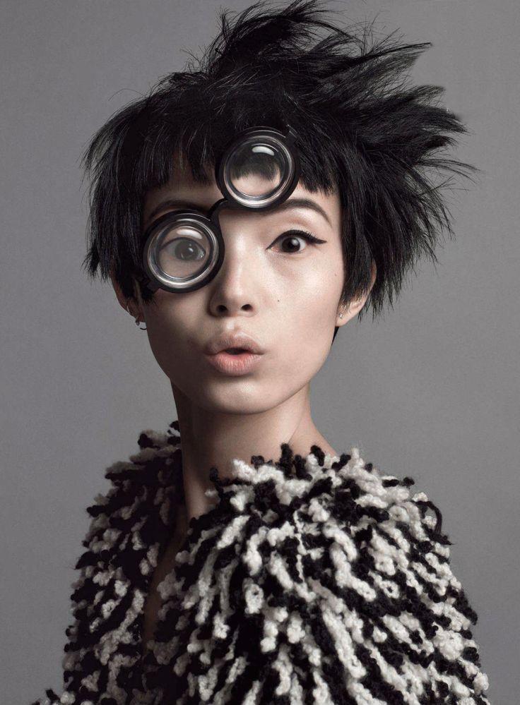 "Xiao Wen Ju in ""Seeing Double"" - Vogue, July 2014. Photographed by Inez & Vinoodh."