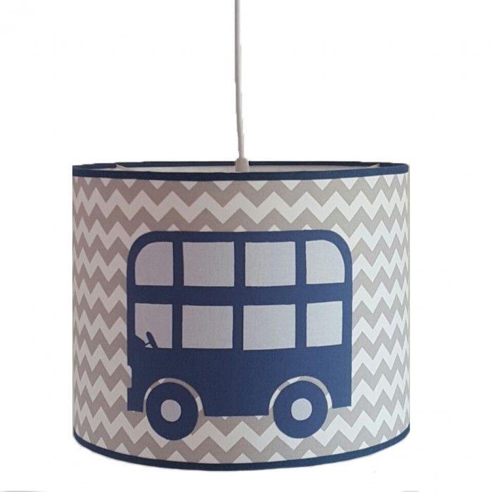 Hanglamp bus blauw-grijs