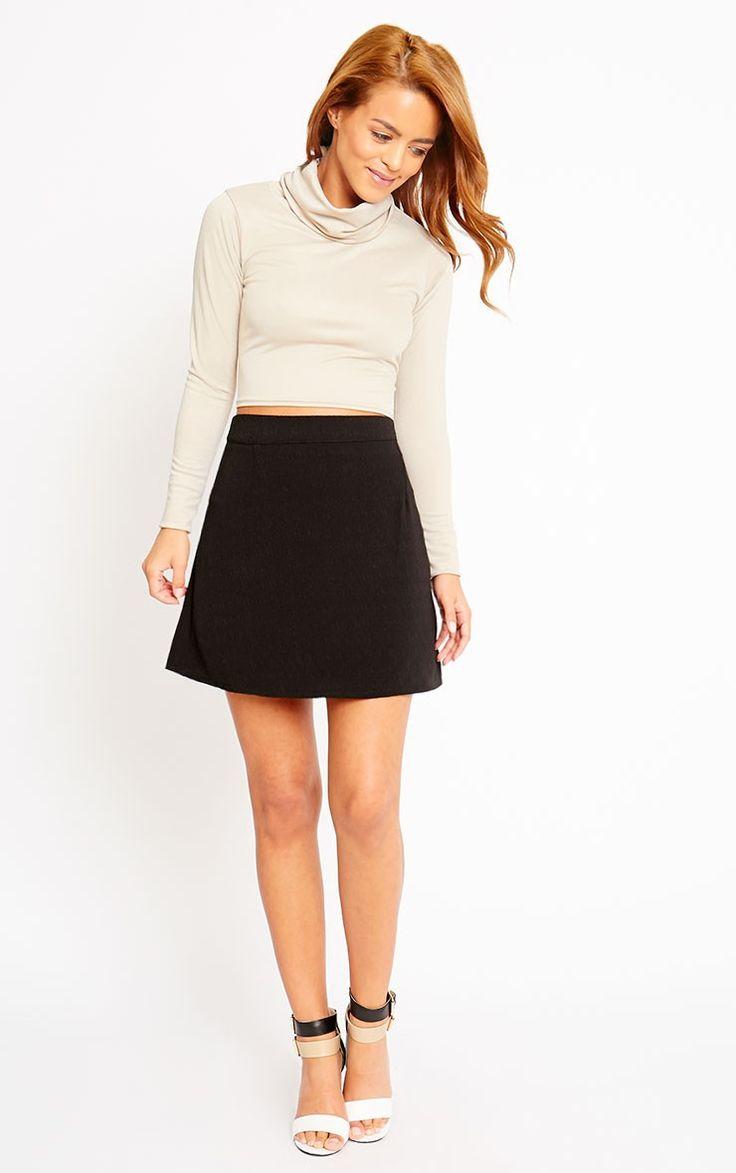 black-mini-skirt