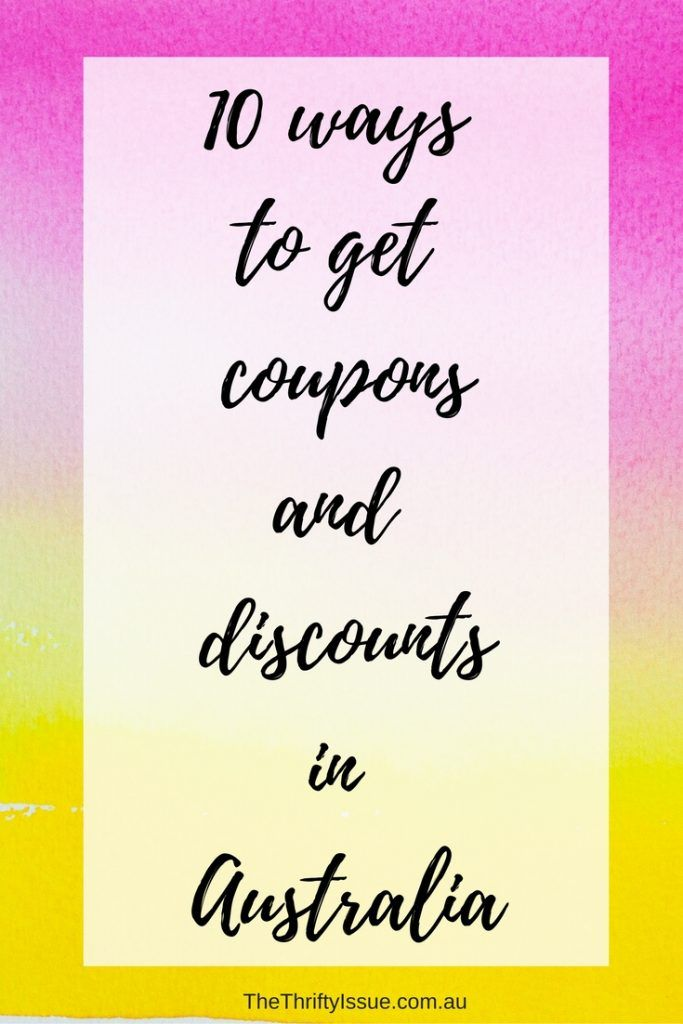 10 ways to get coupons and discounts in Australia