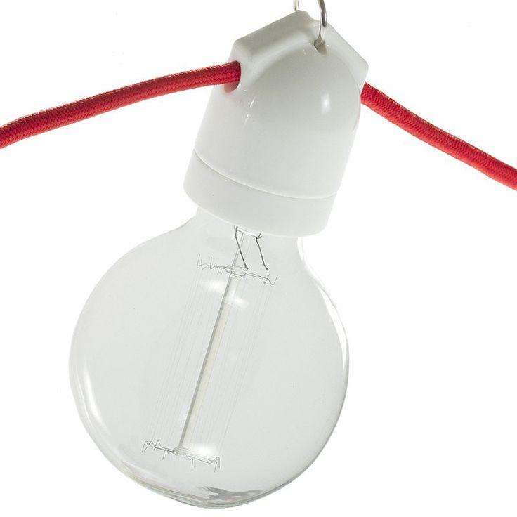 Portalámparas porcelana para guirnalda  #lamparas #montar #fabricar #decoracion #accesorios #piezas