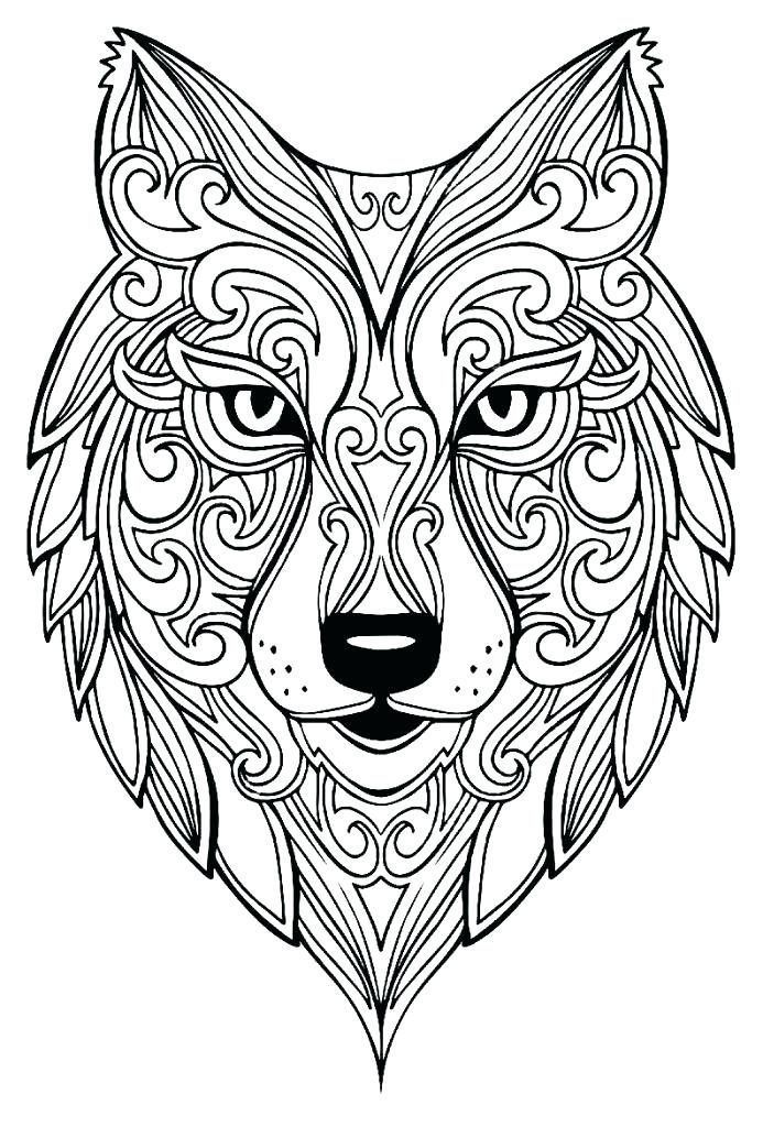 Free Wolf Coloring Pages For Adults Best Coloring Pages For Kid For Kindergarten Malvorlagen Mandala Tiere Mandala Ausmalen
