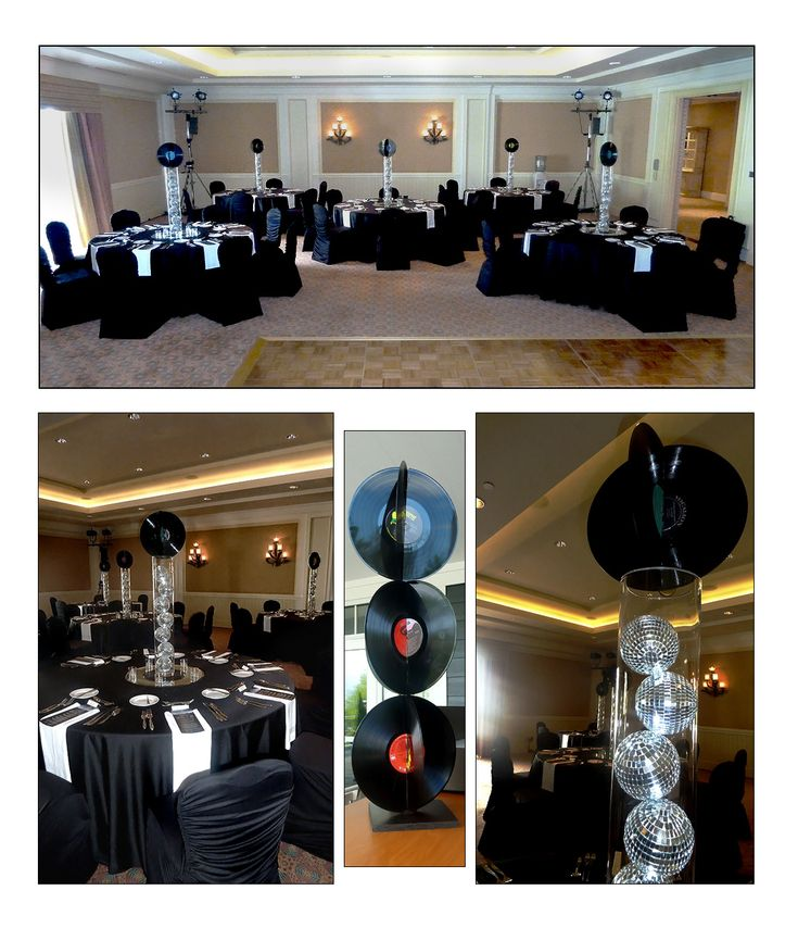 Rock n roll music event decor theme party and wedding decorations pinterest centerpieces - Rock and roll theme party decorations ...