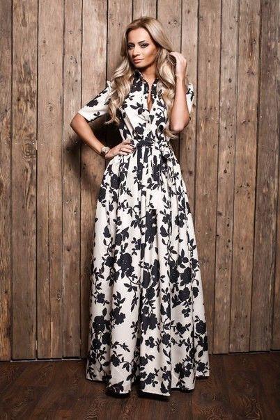 2015 новые весна лето взлетно посадочной полосы выглядит великолепно цветочный принт белый рукавов макси платье линии длинные платья для женщин Большой размеркупить в магазине SeirahнаAliExpress