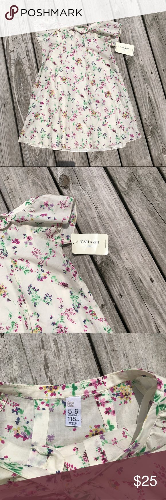 SALE! NWT Zara girls dress, fully lined!! Gorgeous lightweight cotton dress by ZarA Zara Dresses