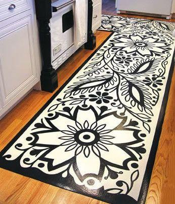229 Best Floor Cloth Diy Images On Pinterest Painted