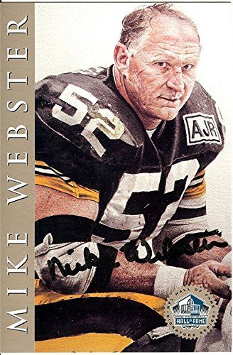 Mike Webster Pittsburgh Steelers Autographs