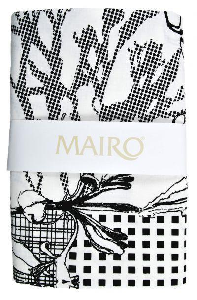Mairo Myrten table cloth in black. Designed by Anna Backlund.
