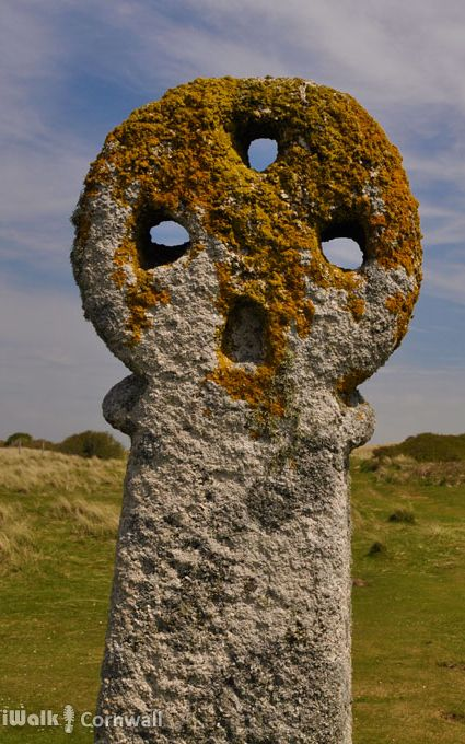 """St Piran's Cross on Penhale Sands near Perranporth, Cornwall.  It's thought that this might be the cross referred to in a charter of AD 960 as """"cristelmael""""."""