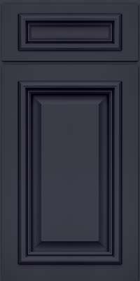 Door Detail - Square Raised Panel - Solid (AA8M) Maple in Midnight w/ Onyx Glaze - KraftMaid Cabinetry