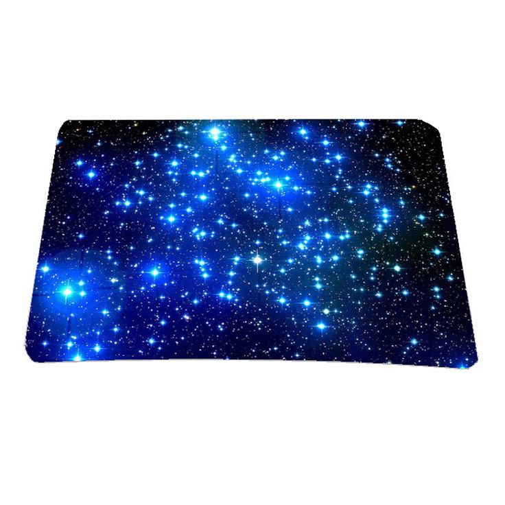 Blue Romantic Star Multi-element Silicon Anti-slip Mousepad Computer Mouse Pad Mat For Optical Laser Mice Trackball Mouse Retail