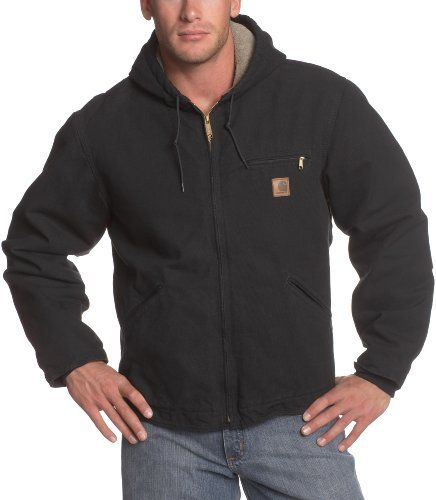 12-ounce, 100% cotton sandstone duck , sherpa lining in body, quilted-nylon lining in sleeves , attached sherpa-lined hood with draw -cord closure , left-chest pocket with zipper closure , two inside pockets , two sherpa-lined lower-front pockets , pleated elbows , inner-sleeve, rib-knit storm...  More details at https://jackets-lovers.bestselleroutlets.com/mens-jackets-coats/active-performance/insulated/product-review-for-carhartt-mens-big-tall-sherpa-lined-sandstone-sierr
