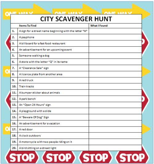 City Scavenger Hunts (Free Printable) #KidsActivities