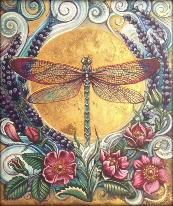 Bespoke Dragonfly Illustration by Kitchimama. 2013.