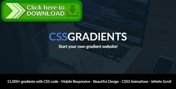[ThemeForest]Free nulled download CSSGradients - Responsive CSS Gradient Script from http://zippyfile.download/f.php?id=41430 Tags: ecommerce, color chooser, color picker, color selector, colors, css, CSS Gradient, CSS gradients, css3, generator, gradient, gradient generator, hex, php script, responsive