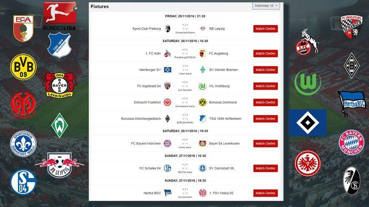 2016/17 Bundesliga Fixtures | Schedule for German Bundesliga