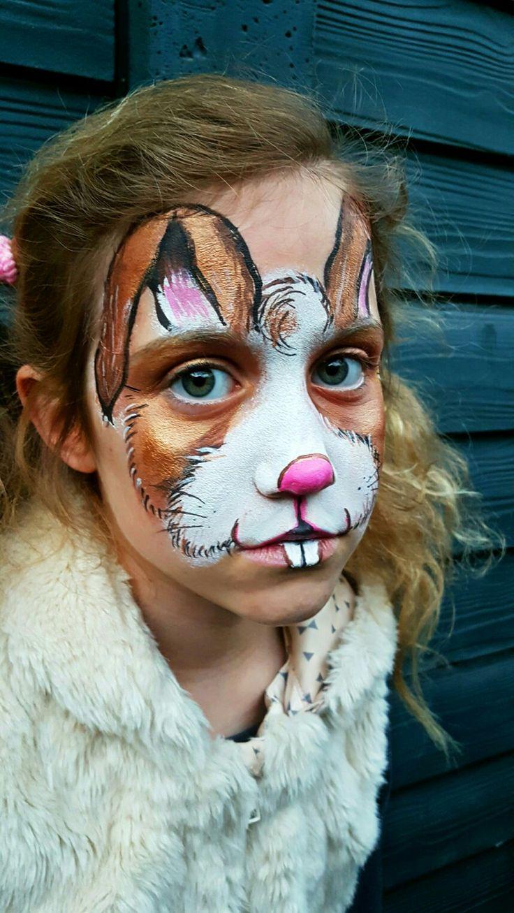 The 25 Best Bunny Face Paint Ideas On Pinterest Kitty