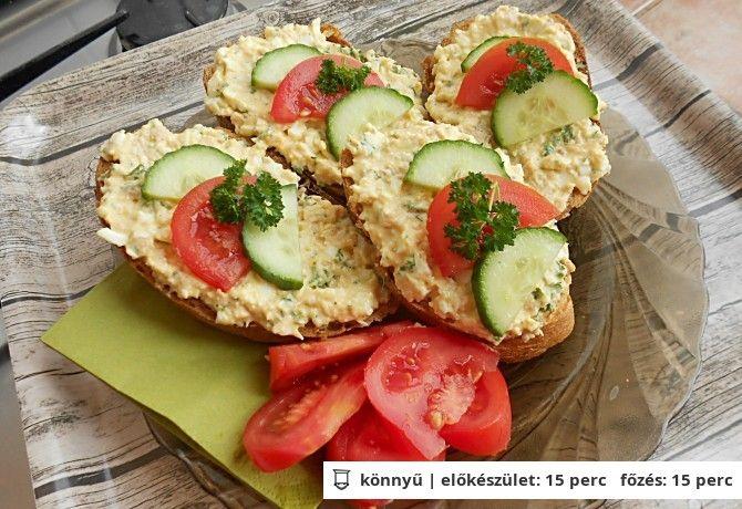 Tojásos-tonhalas szendvicskrém