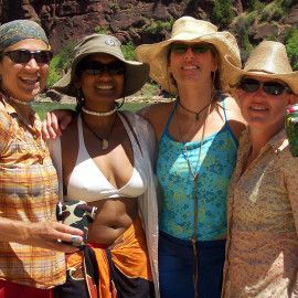 Women's Rafting & Yoga Holiday on the Salmon River - A happy group!