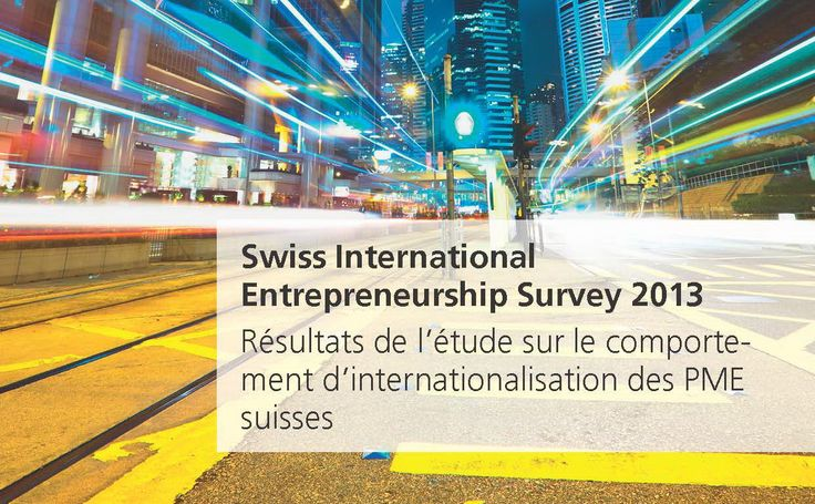 Etude Swiss International Entrepreneurship Survey – SIES 2013