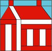 ThimbleladyQuilting - quilt block_school house, $0.00 (http://www.thimblelady.com/quilt-block_school-house/)