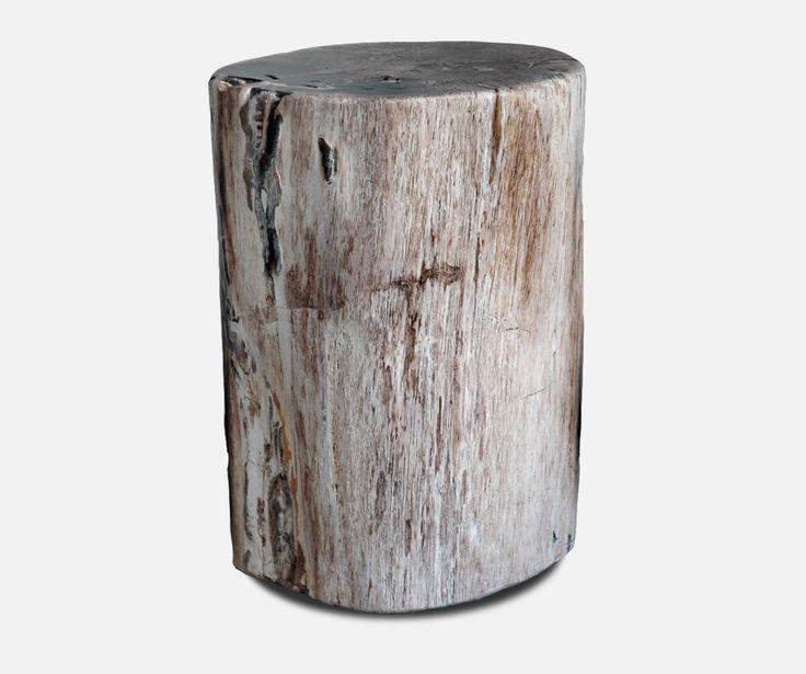 Fossilised Wood Chedi Hocker versteinertes Holz