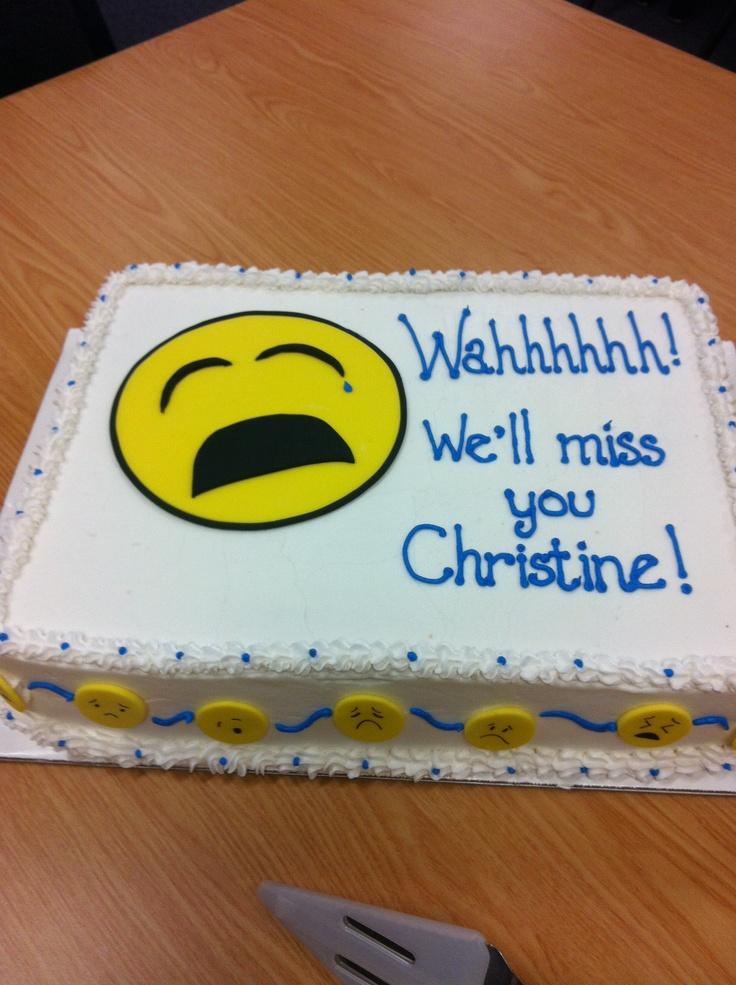 Farewell cake I made for a friend.   Cakes   Pinterest ...