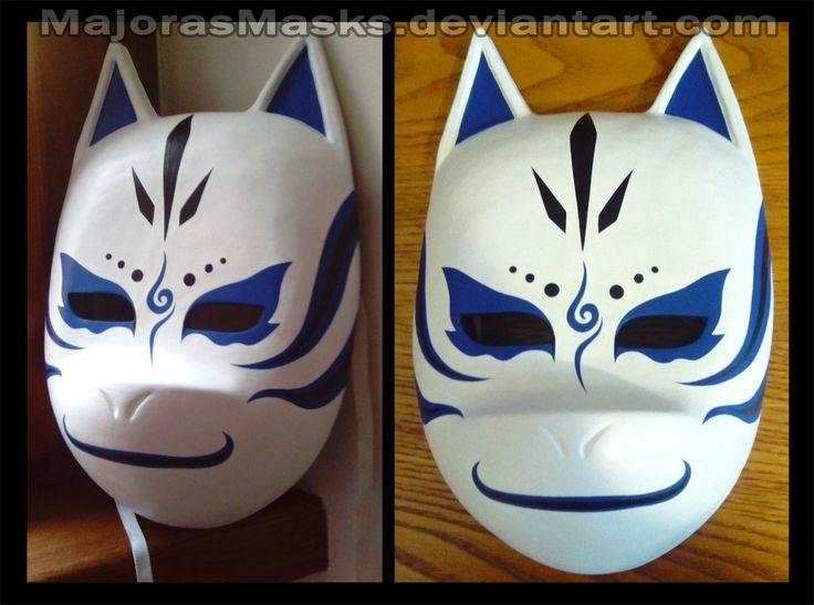 Custom Kakashi ANBU mask (blue ver.) | COMMISSION by MajorasMasks.deviantart.com on @DeviantArt