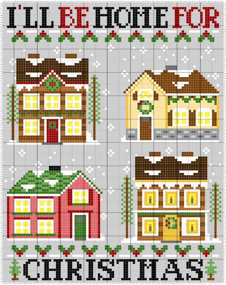 Check out this Beautiful corner to corner Christmas Crochet Afghan Graph in a one piece design! Free graph and instructions. #crochet #cornertocornercrochet #C2C #christmas #I'llbehomeforchristmas #holidays #afghan #onepiececrocher