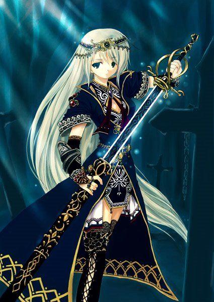 Anime warrior girl viewing nicky wolf girl 39 s profile - Anime female warrior ...