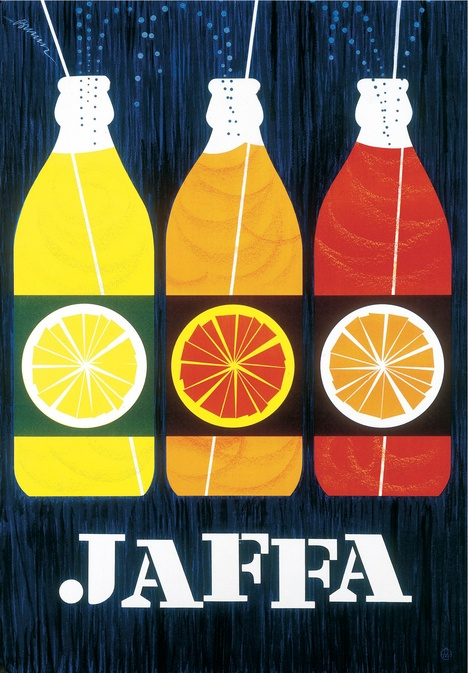 Print add for Jaffa by Eric Bruun from 1959