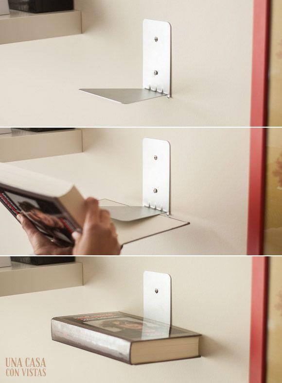 Estantería invisible para libros | Invisible bookshelf #decoration #deco #bookshelf