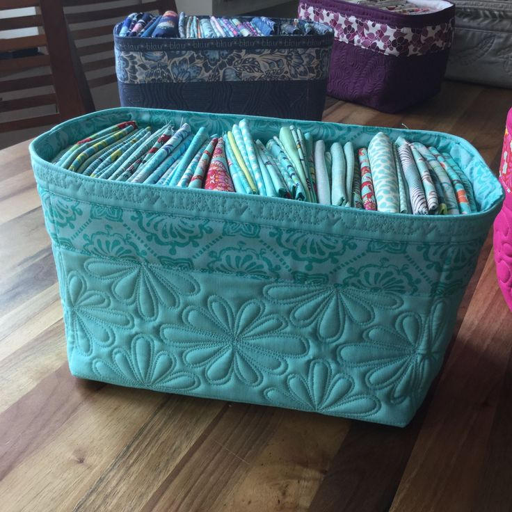 Well, here's something I posted on the German speaking Bernina Blog a couple of weeks ago and since quite a few people asked me for an English version - here goes.... Obviously you can find any number of patterns for fabric baskets online and in various magazines. So I didn't really re-invent the wheel with my baskets - but... what I actually wanted to show you was how different you can m ...
