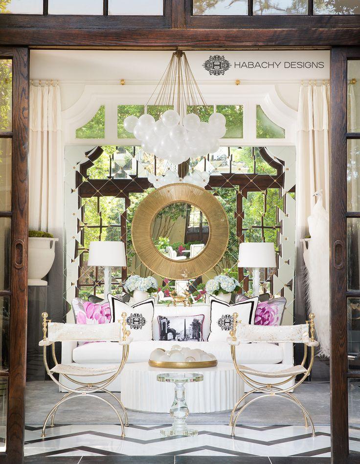 Habachy designs loggia interior for the atlanta symphonys decorators show house