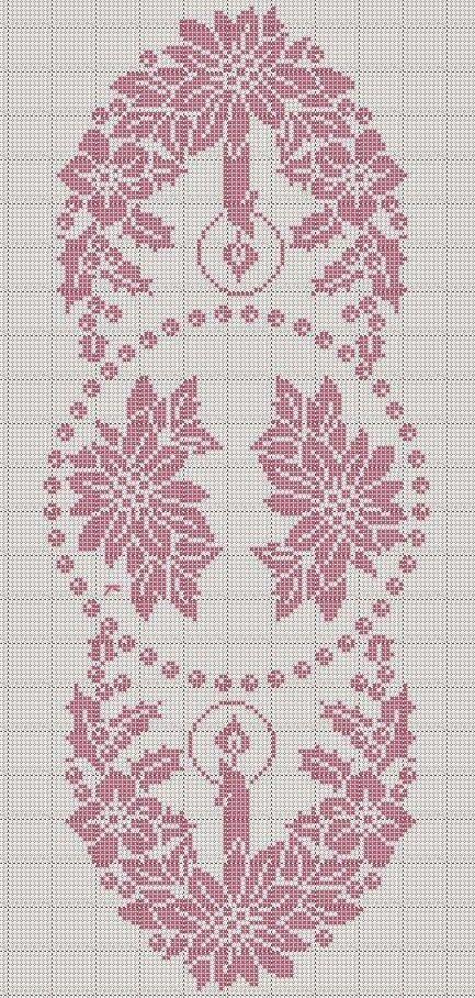 Σχέδιο σεμέν από δαντέλα για το Χριστουγεννιάτικο τραπέζι, lace doilies for Christmas table, Spitzendeckchen für Weihnachtstisch,