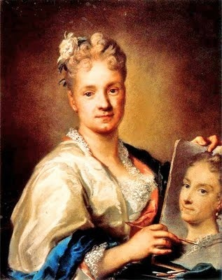 1675 Rosalba Carriera (Italian artist, 1675-1757) Self Portrait 1709. Rosalba Carriera (1675-1757): Rosalba Carriera was born in Venice. She pioneered the new genre of portraits done in pastel. She began her career painting snuff boxes, but her skills as a portrait artist were so highly respected that it became a standard practise to call other women artists an English Carriera, a Dutch Carriera, a German Carriera, etc.