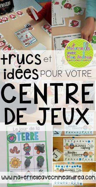 Centre de jeux | Centres d'apprentissage | Idées pour la maternelle