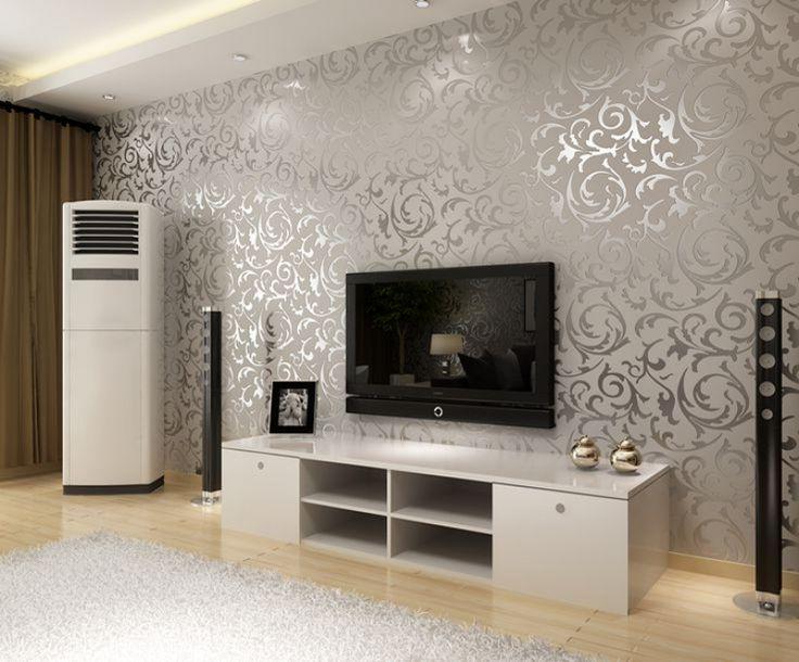 Silver Wallpaper For Living Room