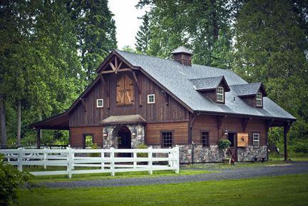 Denali gable barn from barn pros barnhome horse for Barn pros nationwide