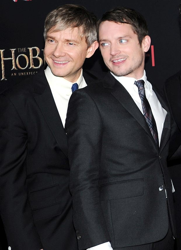 Martin Freeman and Elijah Wood -Bilbo & Frodo